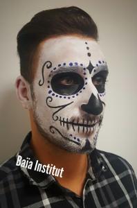 Maquillage tête de mort mexicaine homme